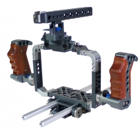 Black Magic Cinema Cage Rig Deluxe Bur