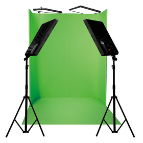 Greenscreen kit 4 x 100W LED