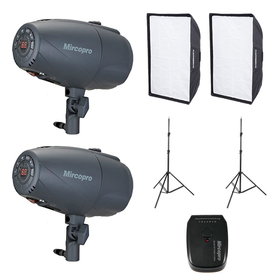 Studioset 2 x 120Ws Smart Softbox