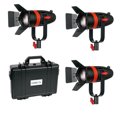 3 x Boltzen Fresnel LED 55W Bi-Color